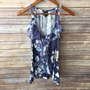 One September | Bisco Falls Floral Ruffle Top S